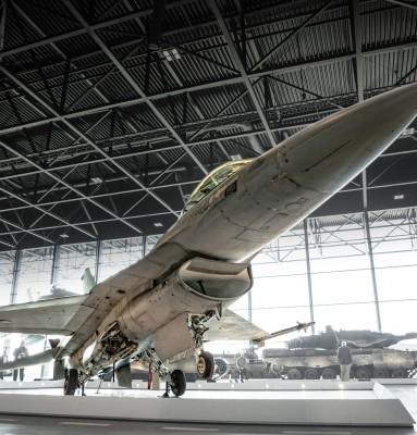 F16 bij het Nationaal militair Muzeum